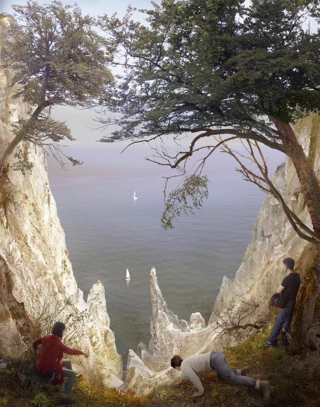 Hiroyuki Masuyama, Kreidefelsen auf Rügen 1818, 2016