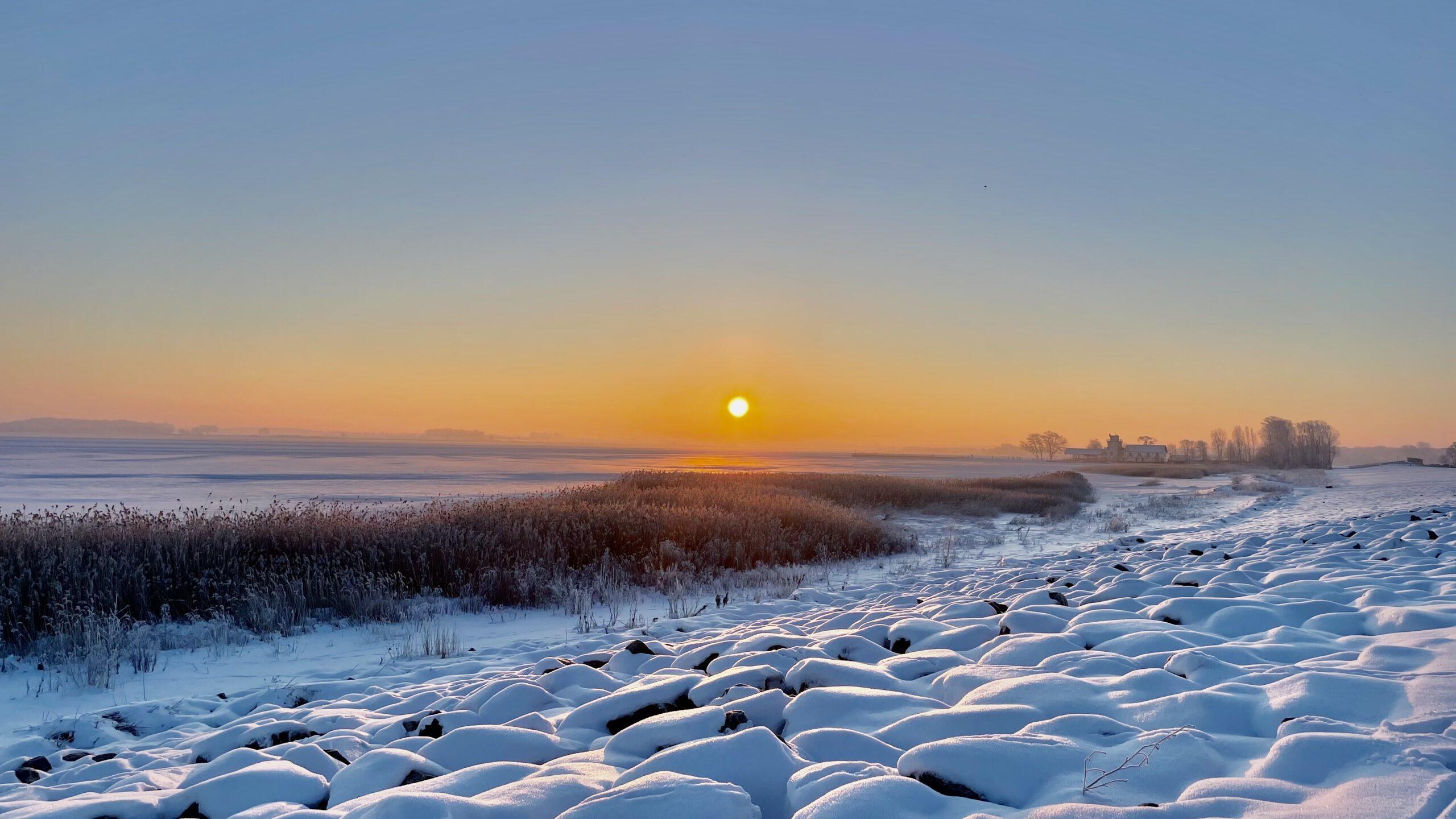 Winter Wieck Sonnenaufgang